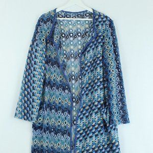 1960s Vintage Handmade Crochet Duster O/S